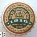 CORONA  cerveza SAN MIGUEL 7979 CROWN-CAPS